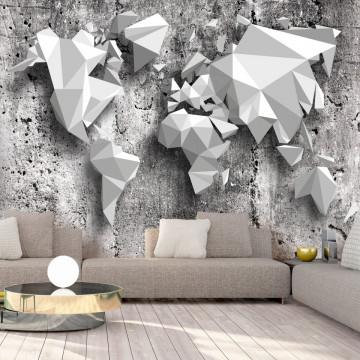 Fototapet autoadeziv - World Map: Origami