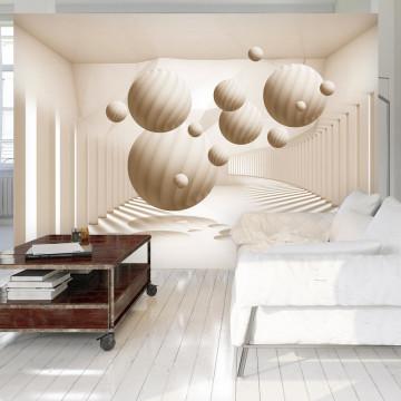 Fototapet - Beige Balls