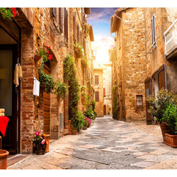 Fototapet - Colourful Street in Tuscany