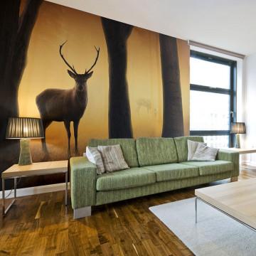 Fototapet - Deer in his natural habitat