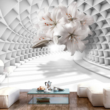 Fototapet - Flowers in the Tunnel