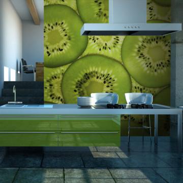 Fototapet - Fresh kiwi pattern