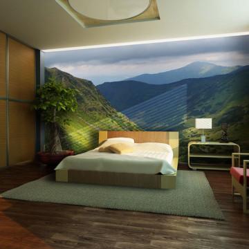 Fototapet - Green mountain landscape