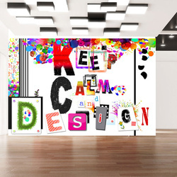 Fototapet - Keep Calm and Design