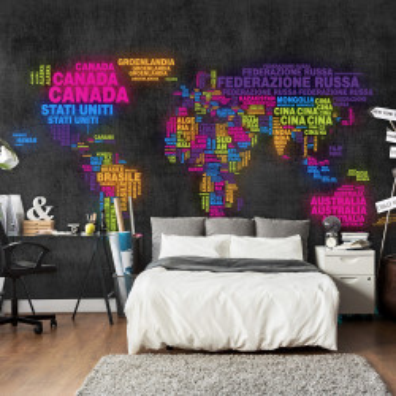 Fototapet - map, Italian - colors