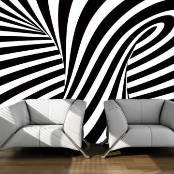 Fototapet - optical art: black and white