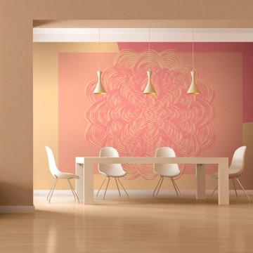 Fototapet - Pink ornament
