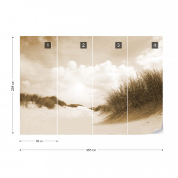 Fototapet - Plaja cu nisip fin – Sepia