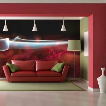 Fototapet - Red smoke