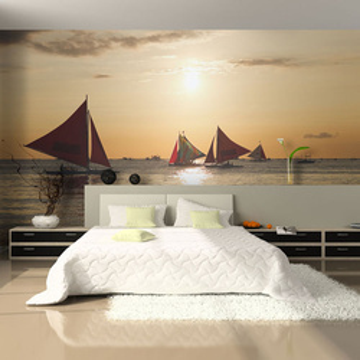 Fototapet - sailing boats - sunset