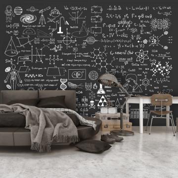 Fototapet - Science on Chalkboard