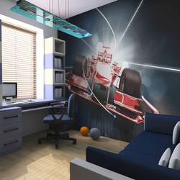 Fototapet - Speed and dynamics of Formula 1