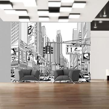 Fototapet - Street in New York city
