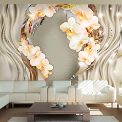 Fototapet - Wreath of orchids