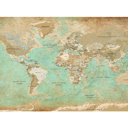 Fototapet XXL - Turquoise World Map II