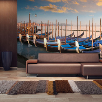 Fototapet XXL - Venetian gondolas