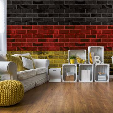 German Flag Brick Wall Texture Photo Wallpaper Wall Mural