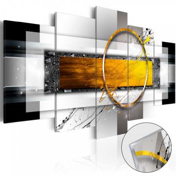 Imagine pe sticlă acrilică - Golden Shot [Glass]