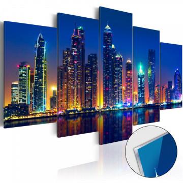 Imagine pe sticlă acrilică - Nights in Dubai [Glass]