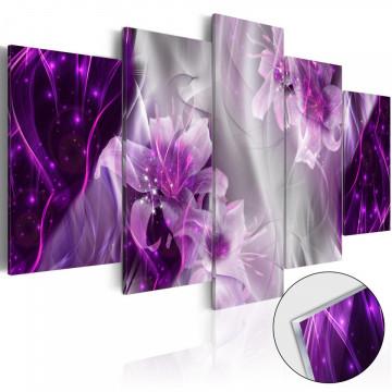 Imagine pe sticlă acrilică - Purple Utopia [Glass]