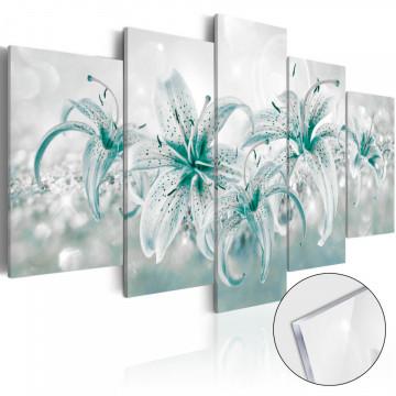 Imagine pe sticlă acrilică - Sapphire Lilies [Glass]