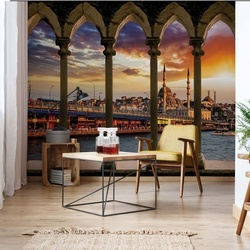 Istanbul Turkey Stone Archway View Photo Wallpaper Wall Mural