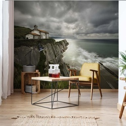 Itzurun Beach And Chapel Of San Telmo Photo Wallpaper Mural