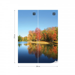 Lake And Forest Photo Wallpaper Wall Mural