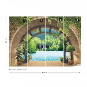 Lake Forest Archway View Photo Wallpaper Wall Mural