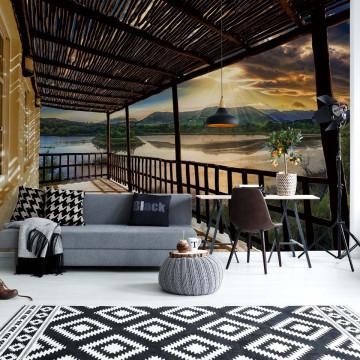 Lake Terrace View Photo Wallpaper Wall Mural