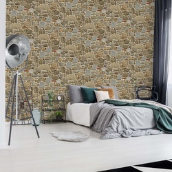 Light Stone Wall Texture Photo Wallpaper Wall Mural