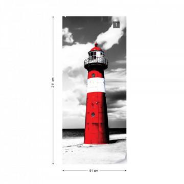 Lighthouse Beach Sea Photo Wallpaper Wall Mural