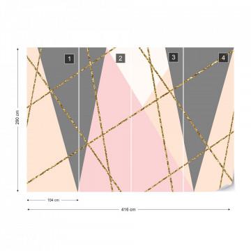 Modern Geometric Triangles Design Photo Wallpaper Wall Mural