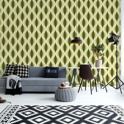Modern Pattern Yellow Photo Wallpaper Wall Mural