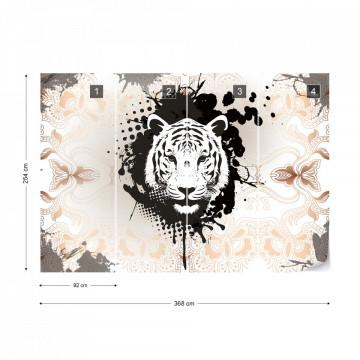 Modern Tiger Design Photo Wallpaper Wall Mural