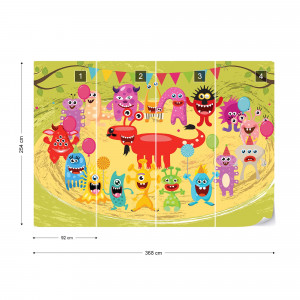 Monsters Party Photo Wallpaper Wall Mural