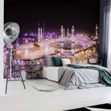 Mosque Islam Pink Light Photo Wallpaper Wall Mural