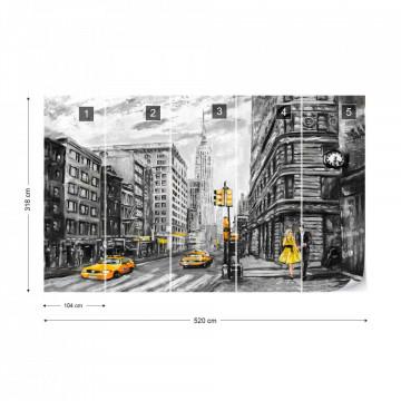 New York City Yellow Cabs Photo Wallpaper Wall Mural