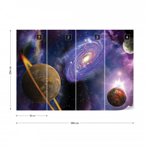 Outer Space Planets Galaxies Photo Wallpaper Wall Mural