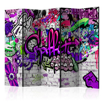 Paravan -  Purple Graffiti [Room Dividers]