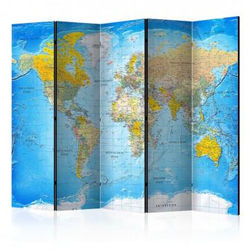 Paravan - World Classic Map  [Room Dividers]