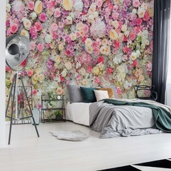 Pastel Flowers Photo Wallpaper Wall Mural