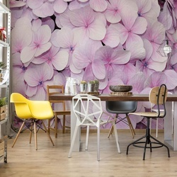 Pastel Flowers Purple Photo Wallpaper Wall Mural