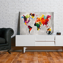 Pictatul pentru recreere - World Map (Bright Colours)