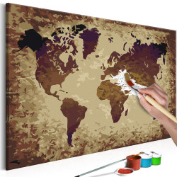 Pictatul pentru recreere - World Map (Brown Colours)