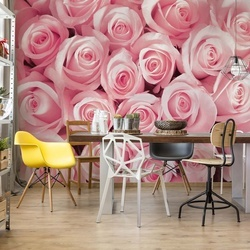 Pink Roses Photo Wallpaper Wall Mural
