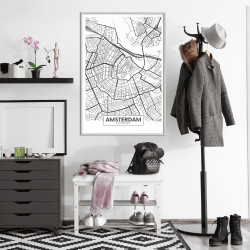 Poster - City map: Amsterdam