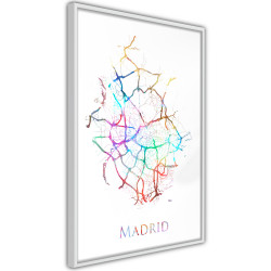Poster - City Map: Madrid (Colour)