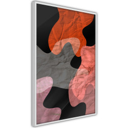 Poster - Colourful Camouflage (Orange)