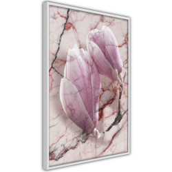 Poster - Magnolia on Marble Background